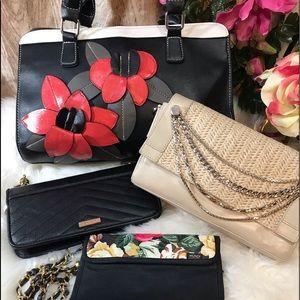 Lot de sacs à mains (3) et un portefeuille!